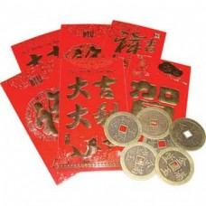 Coin in Red Envelopes set of 6