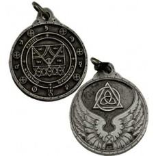 Raziel talisman silver color