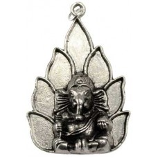 Ganesh on Lotus amulet