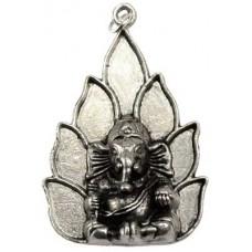 Ganesh on Lotus amulet