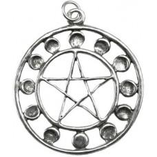 Lunar Pentagram amulet