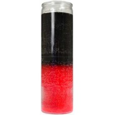 2 Color 7-day Black/ Red jar candle
