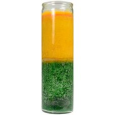 2 Color 7-day Gold/ Green jar candle