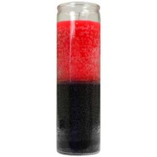 2 Color 7-day Red/ Black jar candle