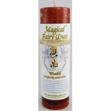 Wealth Pillar Candle with Fairy Dust Necklace
