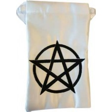 Black pentagram tarot bag