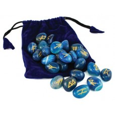 Blue Onyx Rune set by Lo Scarabeo