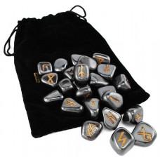 Hematite Rune set by Lo Scarabeo