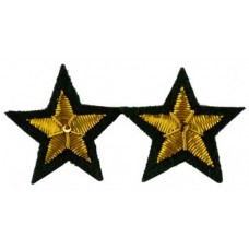 Star sew-on patch Green (set of 2) patch 2