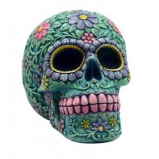 Aqua/ Pink Skull bank