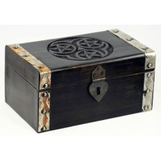 Hecate Triple Pentagram Treasure Chest