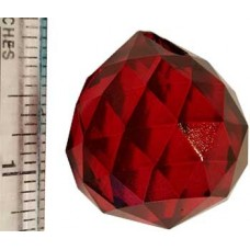 30 mm Red faceted crystal ball