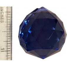 30 mm Blue faceted crystal ball