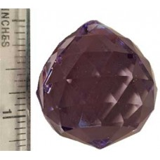 30 mm Purple faceted crystal ball