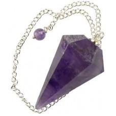 6-sided Amethyst pendulum