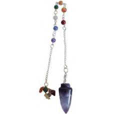 Amethyst 7 Chakra pendulum