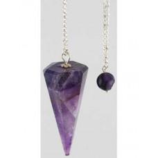 Amethyst 6 Faceted pendulum