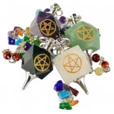7 Chakra Pentagram pendulum various