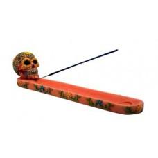 Orange Skull ash holder