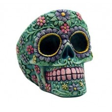 Aqua/ Pink Skull ashtray