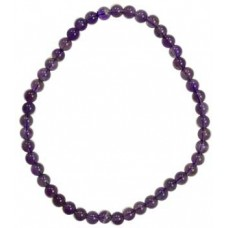 4mm Amethyst stretch bracelet