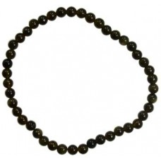 4mm Black Obsidian stretch bracelet