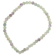 4mm Flourite stretch bracelet