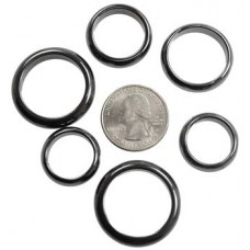 6mm Rounded Hematite rings (50/bag)