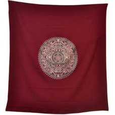 Burgundy Ritual altar cloth 36
