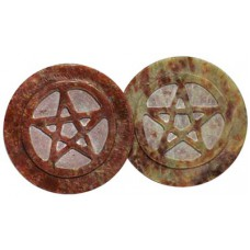 Soapstone Pentagram altar tile 3
