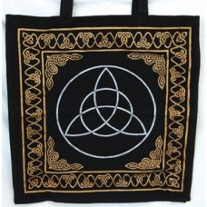 Gold and Silver Triquetra Tote Bag