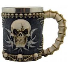 Skull & Spine tankard 4 1/4
