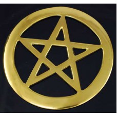 Brass Cut-Out Pentagram 4