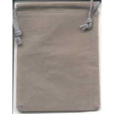 Gray Velveteen Bag