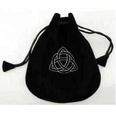 Triquetra Velveteen Drawstring Bag