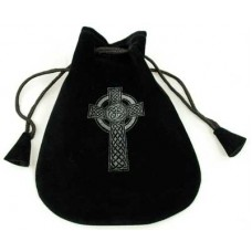 Celtic Cross Velveteen Bag