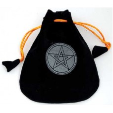 Pentagram Velveteen Black Bag  5