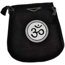 Om Velveteen Black Bag  5