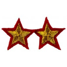 Star sew-on patch Red  (set of 2) patch 2